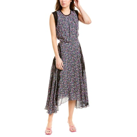 Jason Wu Floral Silk-Trim Midi Dress