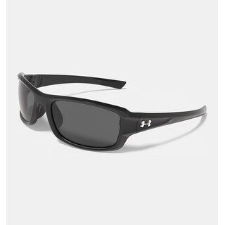 Under Armour Edge Sunglasses Shiny Black - shiny black - gray