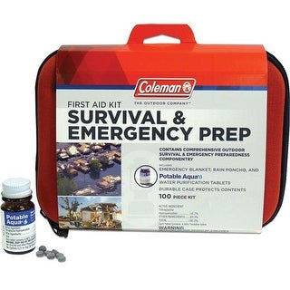 Coleman 372888 Survival & Emergency Prep First Aid Kit