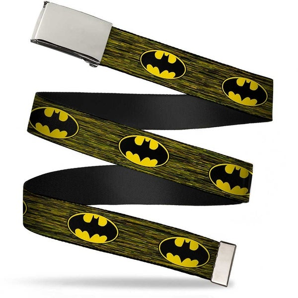 Blank Chrome Buckle Batman Shield Digital Camo Webbing Web Belt