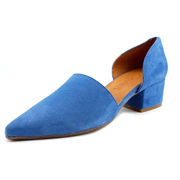 Sixtyseven 78478 Women Pointed Toe Leather Blue Heels