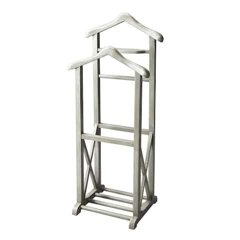 Transitional Wooden Valet Stand in Artifact Finish - Gray