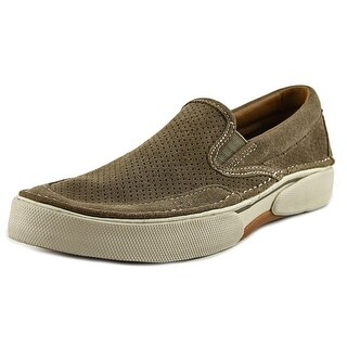 Sperry Top Sider Largo Slip On Suede Men Round Toe Suede Brown Loafer