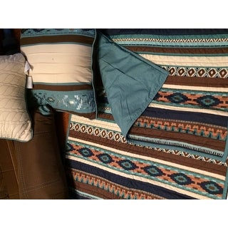 Copper Grove Macon Blue Quilted 6-piece Coverlet Set