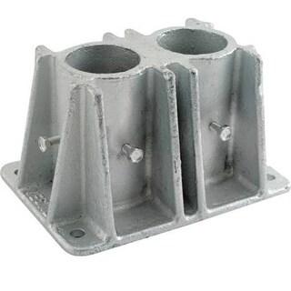 Vestil VDKR-P102 Steel Pipe Safety Railing Double Socket
