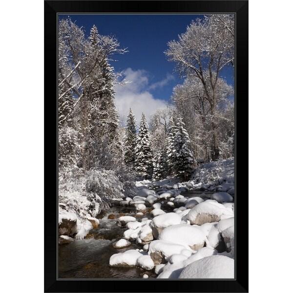 """USA, Colorado, Winter landscape"" Black Framed Print"