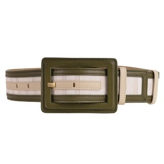 Givenchy Womens Green Leather Canvas Waist Belt