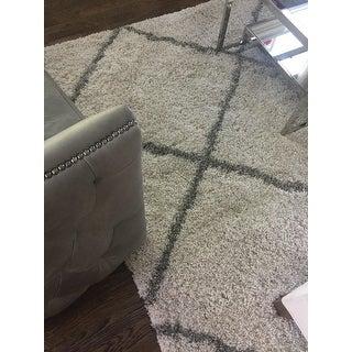 Safavieh Hudson Diamond Shag Ivory/ Grey Rug (6' x 9')