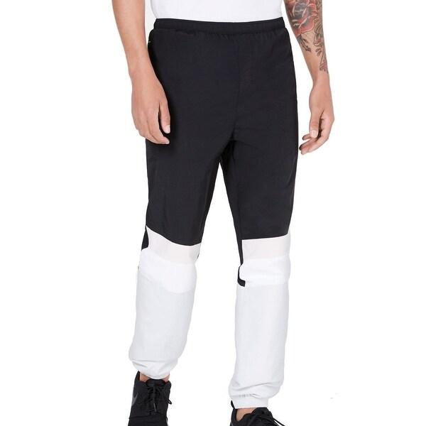 Ideology Mens Pants Black White Large L Windbreaker Woven Blocked Jogger. Opens flyout.