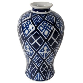 Ceramic Vase, Blue And White