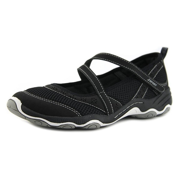 JSport by Jambu Avalon Women Round Toe Canvas Black Mary Janes