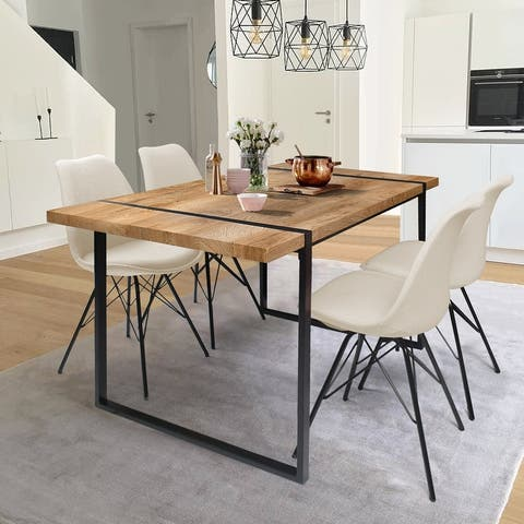 Modern Dining Table Set for 4 Wood Kitchen Table