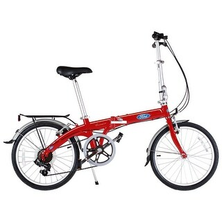 "Ford by Dahon 20"" Convertible Red 7 Speed Folding Bicycle"