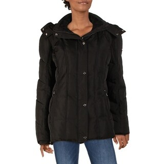 Link to Calvin Klein Womens Parka Coat Faux Fur Lined Anorak - Black - L Similar Items in Women's Outerwear