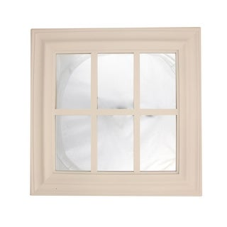 """17"""" Pure White Window Inspired Six Pane Square Wall Mounted Mirror"""