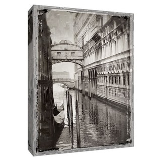 """PTM Images 9-148440  PTM Canvas Collection 10"""" x 8"""" - """"Venice Romance I"""" Giclee Streams & Rivers Art Print on Canvas"""