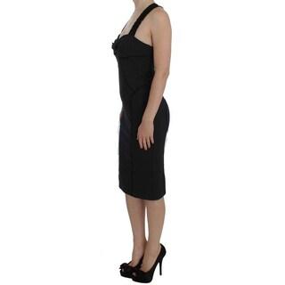 Ermanno Scervino Ermanno Scervino Gray Sheath Stretch Knee Length Dress - it40-s