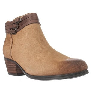 Clarks Gelata Siena Triple Strap Ankle Boots - Tan