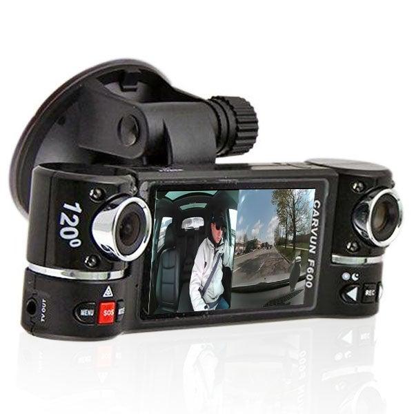 "Indigi® F600 Car DVR DashCam w/ Dual Rotating Cameras (Front+Rear) Driving Recorder with 2.7"" LCD w/ IR Night Assist - Black"