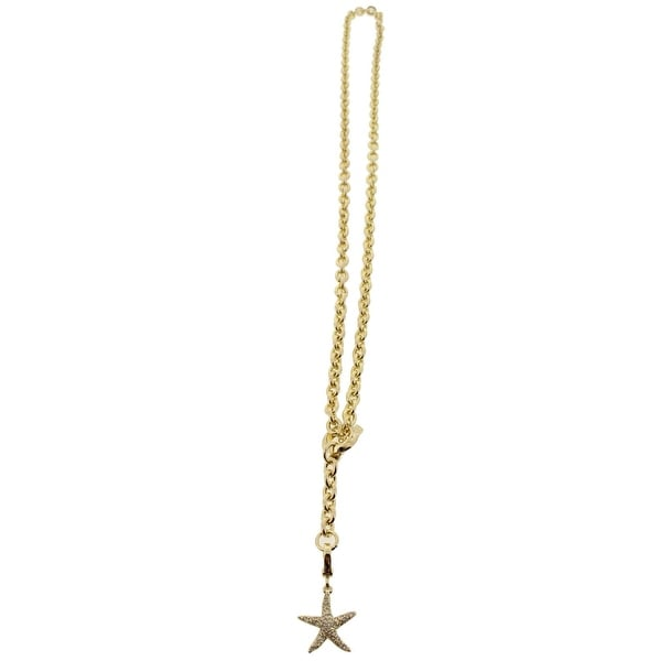Karen Kane Womens Chain Necklace Starfish Pave