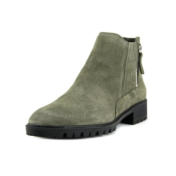 Marc Fisher Womens Vortex Leather Almond Toe Ankle Fashion Boots