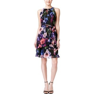 Tahari ASL Womens Party Dress Georgette Printed