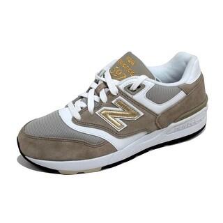 New Balance Men's 597 Classic Khaki/White-Gold ML597RSA