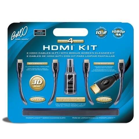 Bello International Llc Hdk2612 2 Hdmi Cables With Bonus Screen Cleaner Kit