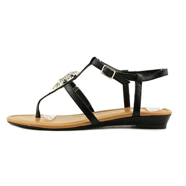 Thalia Sodi Womens Elba Fabric Open Toe Casual T-Strap Sandals