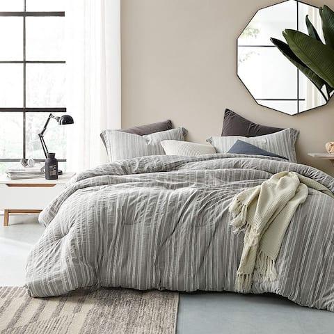 Charter Gray Oversized Comforter - 100% Yarn Dyed Cotton