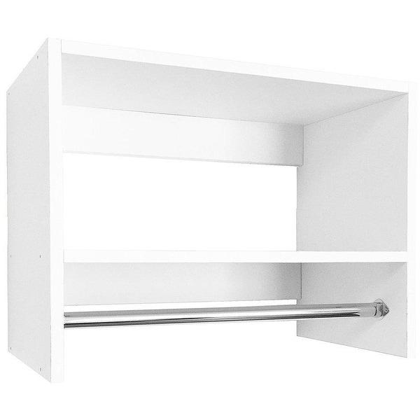Modular Closets Wood Tall Hanging Closet Organizer Section