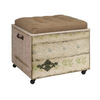 IMAX Home 47472 Evelyn Crate Storage Ottoman