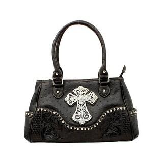 Blazin' Roxx Western Handbag Womens Satchel Ostrich Cross N75268 - One size