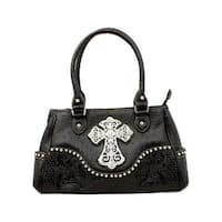 Blazin' Roxx Western Handbag Womens Satchel Ostrich Cross N75268 - One size