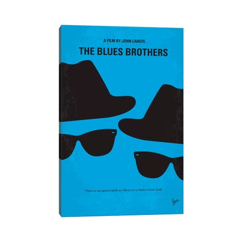 """iCanvas """"Blues Brothers Minimal Movie Poster"""" by Chungkong Canvas Print"""