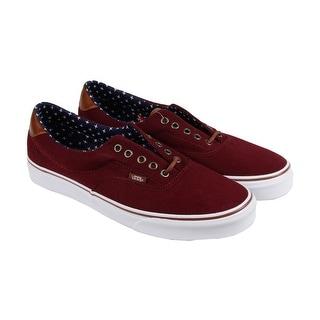Vans Era 59 Mens Brown Canvas Lace Up Sneakers Shoes
