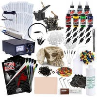 Complete Tattoo Kit - 2 Machine Skull Set
