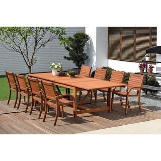 Link to Amazonia Sharon 9-piece Eucalyptus Wood Extendable Patio Dining Set Similar Items in Patio Furniture