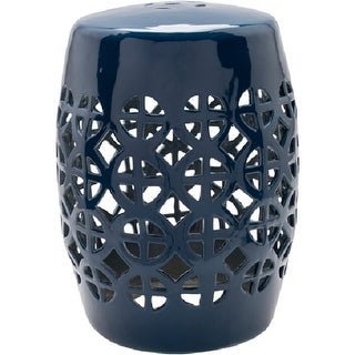 "18"" Ridgeway Ultra Blue Outdoor Decorative Patio and Garden Stool"