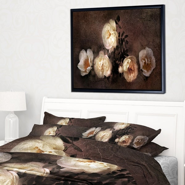 Designart Wild Roses In Old Painting Style Floral Throw Blanket On Sale Overstock 20911565 71 In X 59 In