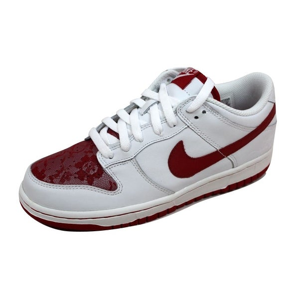 Nike Women's Dunk Low White/Varsity Red-White 309324-168