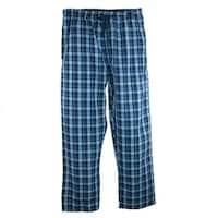 Hanes Men's Woven Plaid Drawstring Sleep Pajama Pants