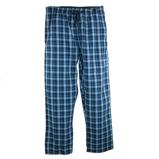Hanes Men's Woven Plaid Drawstring Sleep Pajama Pants
