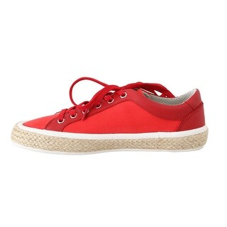 Dolce & Gabbana Dolce & Gabbana Red Leather Cotton Sneakers