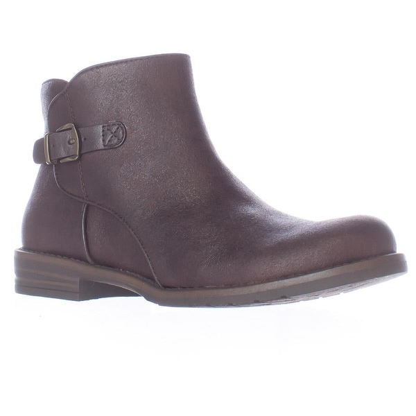 Bare Traps Caine Short Ankle Boots, Dark Brown