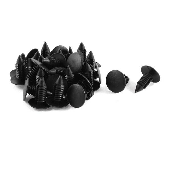 Unique Bargains 30 Pcs Black Plastic Door Trim Moulding Bumper Clips 7mm X  16mm X 19mm
