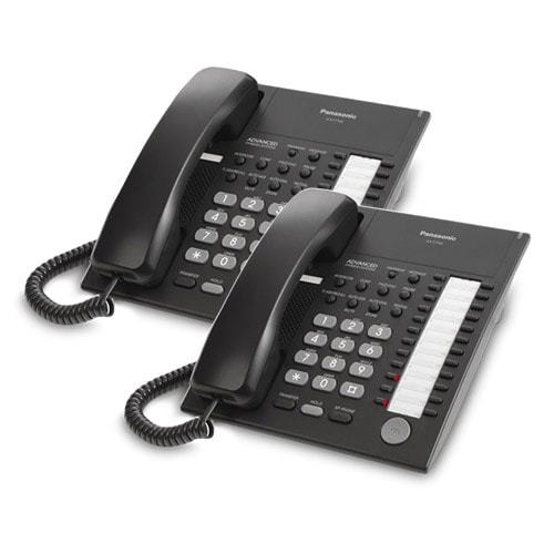 Panasonic-KX-T7720-Black (2 Pack) Speakerphone Telephone