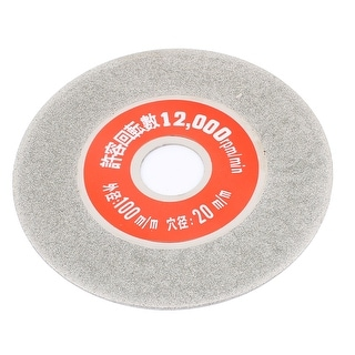 Unique Bargains Silver Tone Diamond Coated Glass Tile Sparkling Grinding Wheel Disc 100 x 20mm