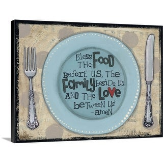 """""""Bless the Food"""" Canvas Wall Art"""
