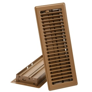 "Imperial RG2004 Brown Floor Register, 4"" x 10"", Brown"